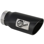 aFe Power Mach Force-XP Tip (Stainless Steel) 4 In X 5 Out X 12 L In Bolt-On (Black Tip)