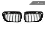 Replacement Gloss Black Front Grilles - E46 Coupe / 3 Series (Pre-Facelift)