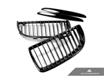 Replacement Gloss Black Front Grilles - E90 Sedan / E91 Wagon / 3 Series