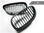 Replacement Stealth Black Front Grilles - E60 Sedan / E61 Wagon / 5 Series