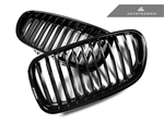 Replacement Gloss Black Front Grilles - F10 Sedan / F11 Wagon / 5 Series