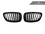 Replacement Gloss Black Front Grilles - F22 2 Series Coupe