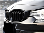 Replacement Dual Slats Gloss Black Front Grilles - F32 4 Series / F80 M3 / F82 M4