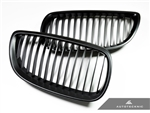 Replacement Stealth Black Front Grilles - E92 Coupe / E93 Cabrio / 3 Series