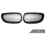 Replacement Gloss Black Front Grilles - E92 Coupe / E93 Cabrio / 3 Series