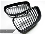 Replacement Stealth Black Front Grilles - E82 Coupe / E88 Cabrio / 1 Series