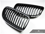 Replacement Stealth Black Front Grilles - E90 Sedan / E91 Wagon / 3 Series LCI