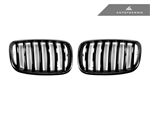 Replacement Gloss Black Front Grilles - E70 X5 / X5M / E71 X6 / X6M
