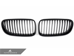 Replacement Stealth Black Front Grilles - E92 Coupe / E93 Cabrio / 3 Series LCI