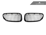 Replacement Gloss Black Front Grilles - E92 Coupe / E93 Cabrio / 3 Series LCI