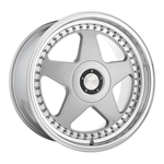 "18x8"" - Custom Bolt Pattern - Custom Offset - 54.1 CB - Machine Silver"