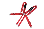 Megan Racing Seat Accessories 3 Inch 6 Points Harness Red