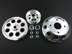 P2M Nissan S13 SR20DET 3 Piece Pulley Kit - Silver
