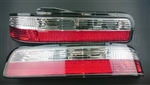 P2M Nissan S13 Silvia 2Pcs Crystal Rear Tail Light Kit [Led Version]