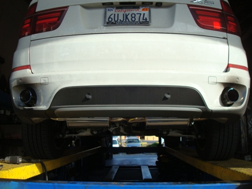 Megan Racing Axle Back Exhaust Burnt Rolled Tips For 07-13 BMW E70 X5 V6  ONLY exclude M Package